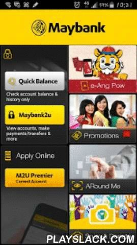 Maybank MY  Android App - playslack.com ,  Discover a whole new way of accessing your banking needs via Maybank2u App on your smartphone or tablets. Download our Maybank2u App now and login using your existing Maybank2u username and password to discover a whole new banking experience on your device. With Maybank2u App, you now have the convenience of banking at your fingertips. You can perform the following transactions:- Account Summary ▸ Balance Inquiry on Savings, Current, Credit Card…
