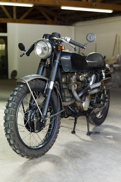Honda CL350 Cafe Racer - motorcycle that Rooney Mara rides in The Girl With A Dragon Tattoo. Beautiful machine!
