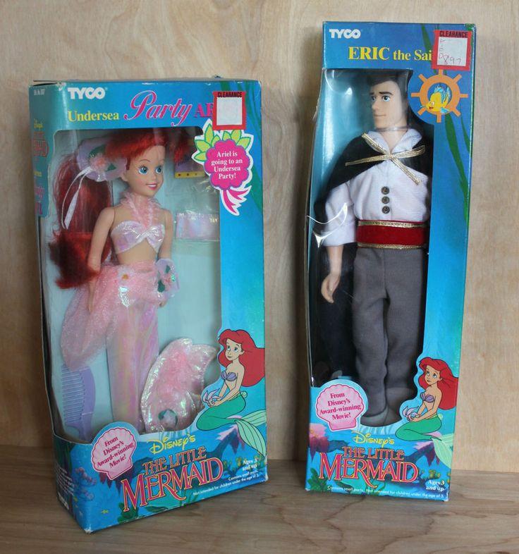 Disney Original Ariel The Little Mermaid & Eric The Sailor Dolls TYCO 1991 NIB #TYCO #DollswithClothingAccessories
