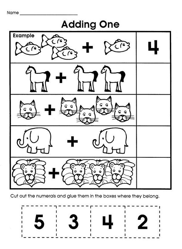 Easy Math Problems Printable | Math worksheets | Preschool ...