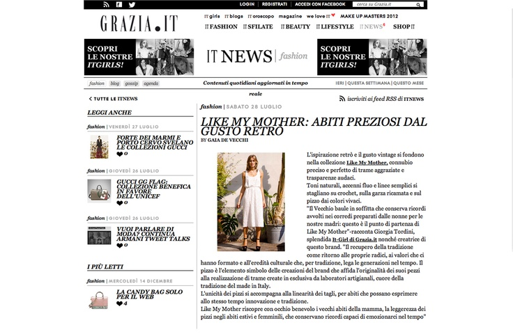 grazia.it - http://www.grazia.it/it-news/fashion/Like-My-Mother-abiti-preziosi-dal-gusto-retro