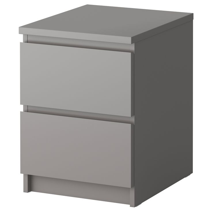 "MALM Chest with 2 drawers - gray, 15 7/8x21 5/8 "" - IKEA put casters on the bottom use as seating with storage..."