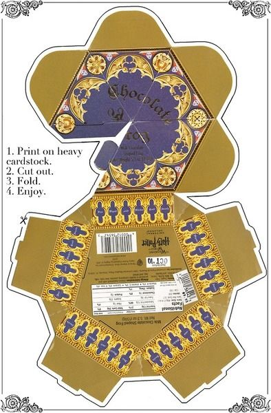 Harry Potter Party- Printable chocolate frog box. We could also get frog models…