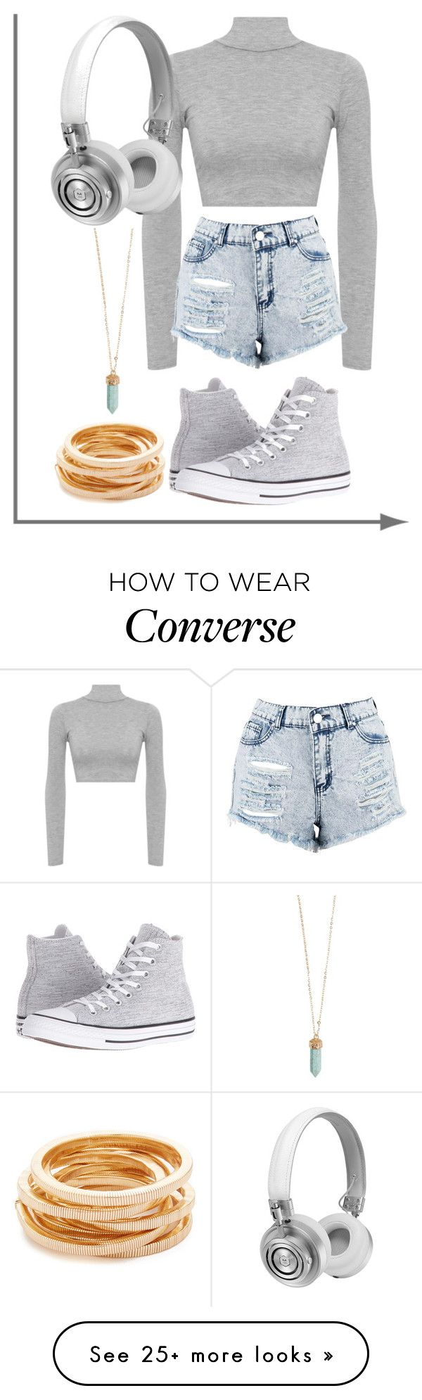 """""""Everythin' I See Is Grey"""" by emmalineavery on Polyvore featuring WearAll, Boohoo, Master & Dynamic, Converse and Kenneth Jay Lane"""