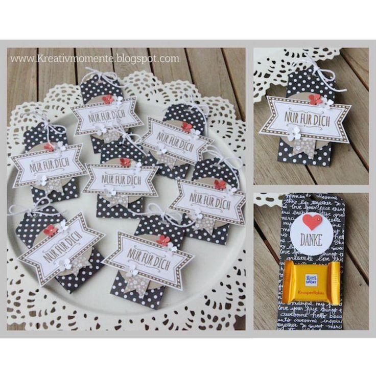 """Christine Holler  auf Instagram: """"Goodies für meine Sammelbesteller  #stamping #basteln #kreativmomenteblogspot #danke #stampinup #fürdich ❤️"""""""