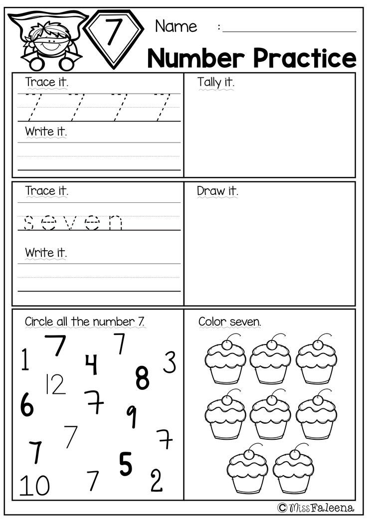 Free Number Practice Teaching Math Pinterest Math