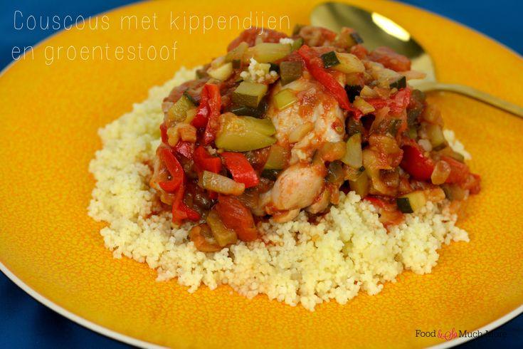 Coucous kippendijen en groente. Recept van foodensomuchmore.nl