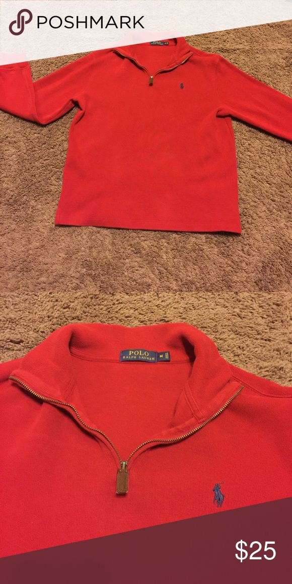 Men's Red Polo Pullover Men's Red Polo Pullover, size medium, like new condition. Polo by Ralph Lauren Sweaters Zip Up