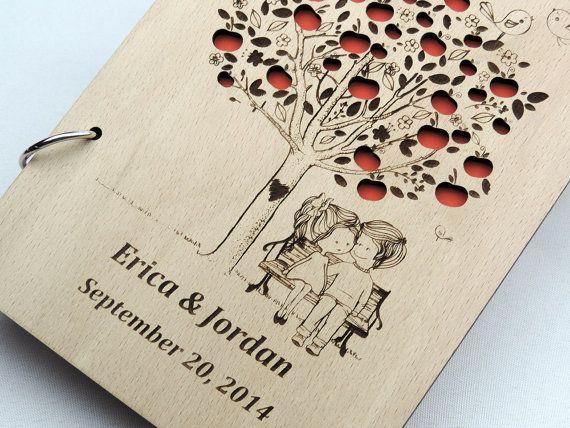Custom Wood Wedding Guest Book Wedding by MelindaWeddingDesign