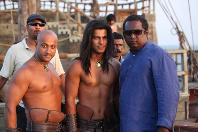 RupeshPaul the director of kamasutra3d on the sets of kamasutra 3D...