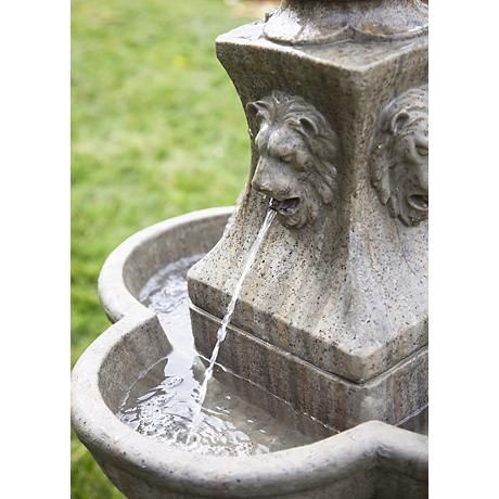 Tuscan Garden Pedestal 54 Quot High Outdoor Fountain
