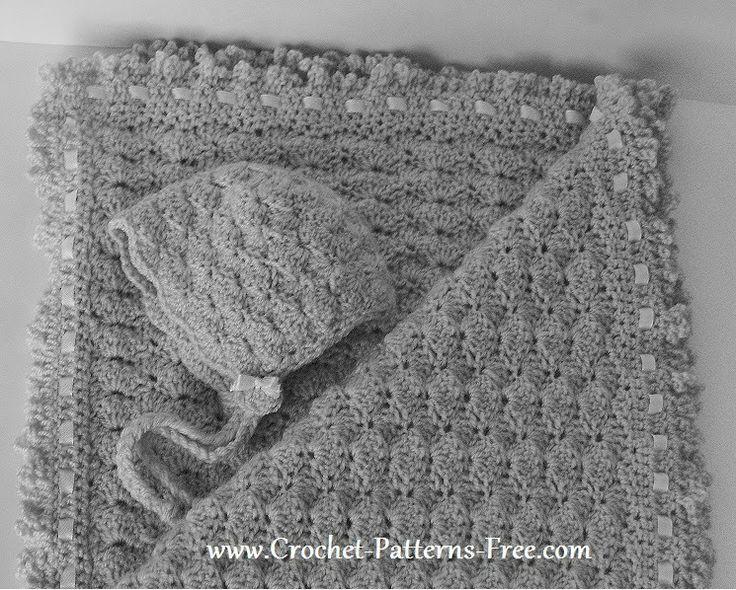 Free Crochet Baby Blanket Pattern in Shell Stitch -baby ...
