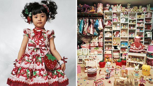 The photo series is both fascinating and, at times, unsettling — some of the children have ornate bedrooms filled with toys, while others are sleeping outside with little-to-no amenities.    The entire book of photos can be viewed at Mollison's website.
