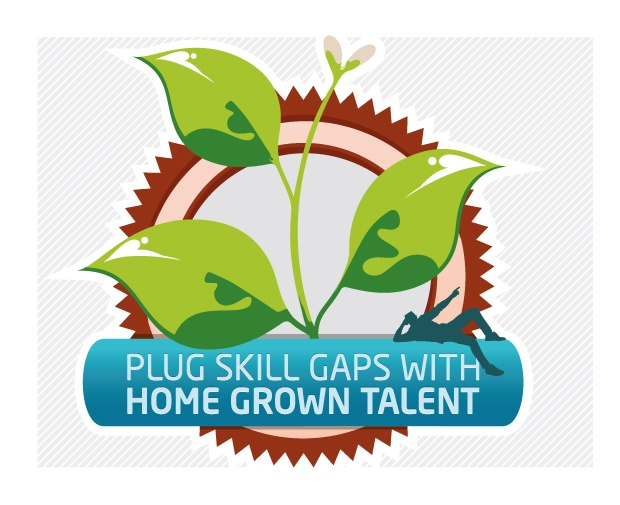 Apprenticeship Infograph - Plug skill gaps with home grown talent.