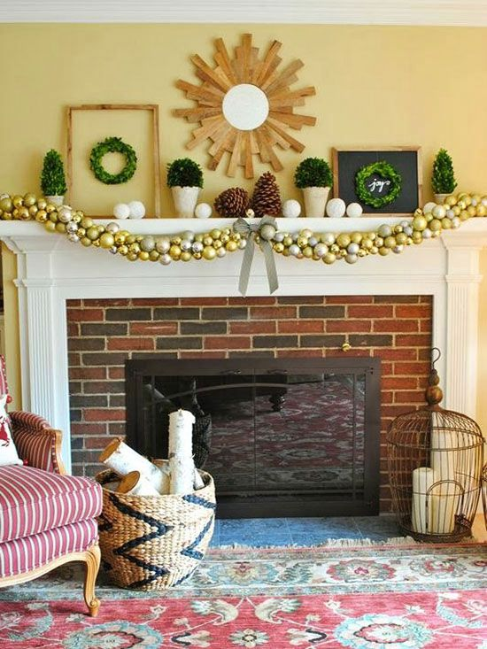 17 Best Images About Holiday Mantel Decoration Ideas On