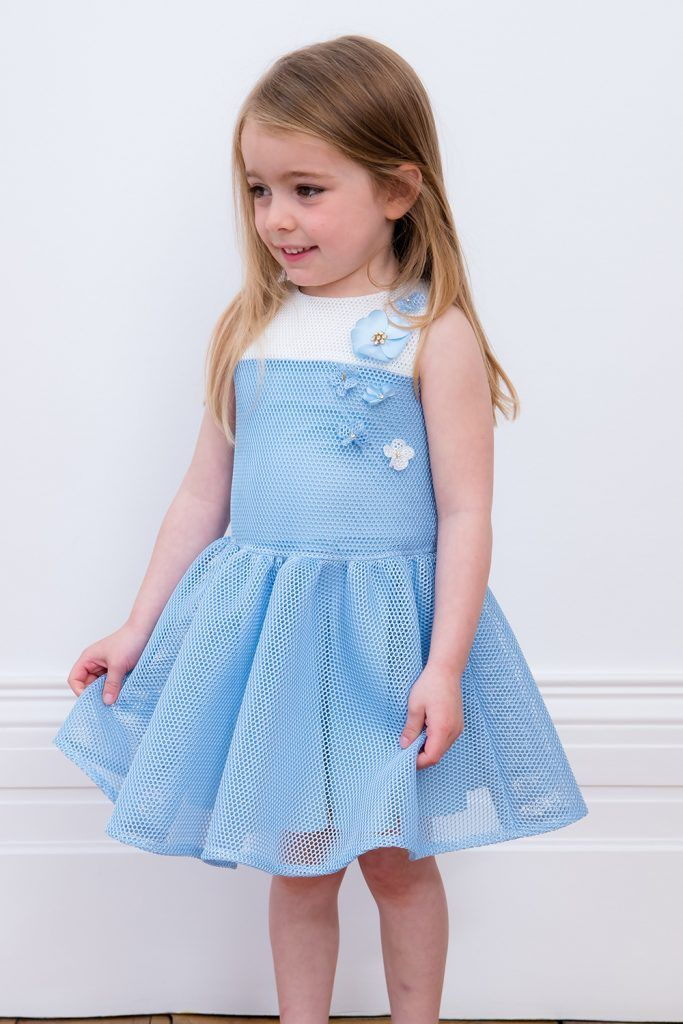 8186dda85c02 Baby Blue and Ivory Flower Dress in 2018
