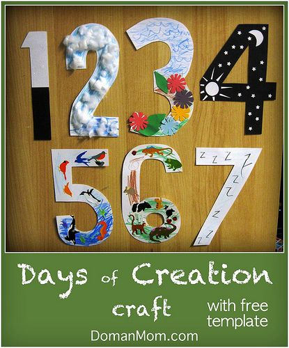Days of Creation Craft with free template