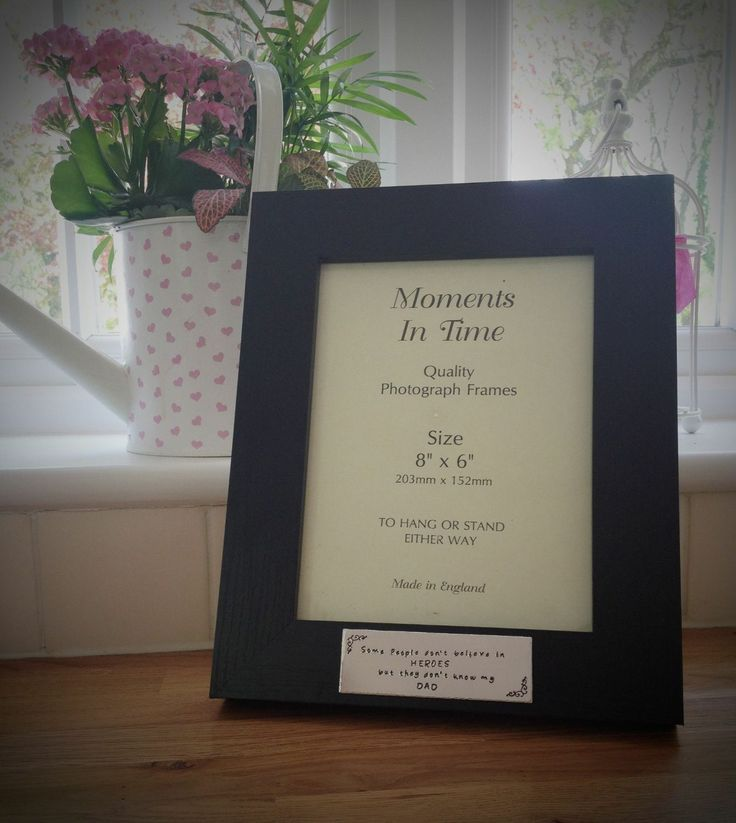 UK based seller. Personalised picture frame. Plenty of options, Perfect for Father's Day or Wedding.
