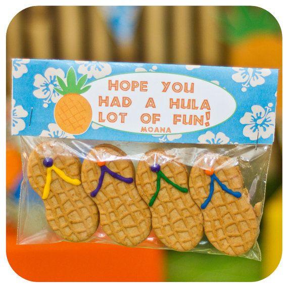 Luau Favor Bag Toppers; Luau Party; Luau Birthday Party; Favor Bag Toppers; Luau Decor