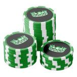 Miss USA Green Crown Poker Chips-Green Poker Chips Set
