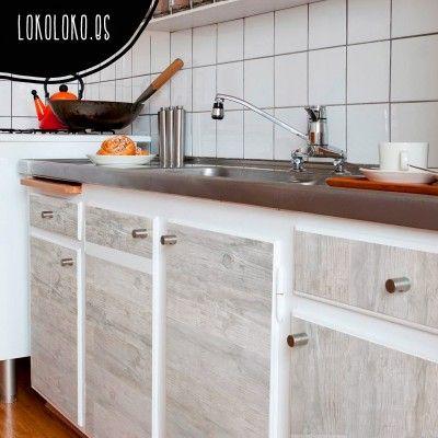 17 mejores ideas sobre vinilos para armarios en pinterest - Como forrar muebles de cocina ...