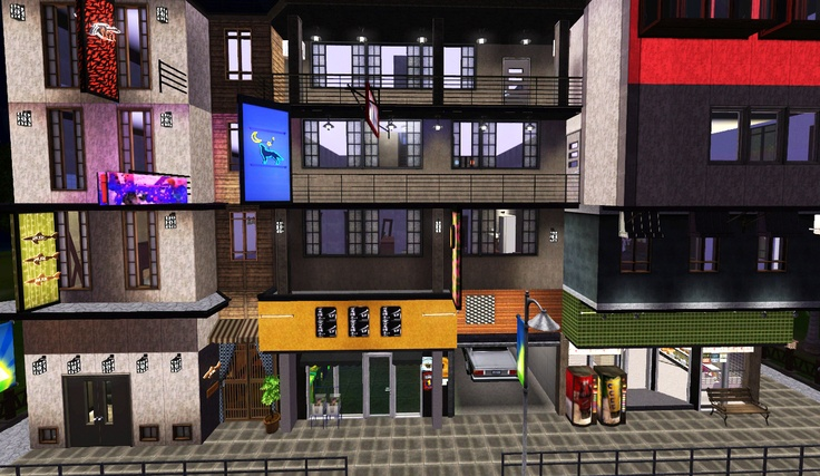 My Sims 3 Blog: Sleepy Apartments - A 30x30 Community Lot by Fayesta