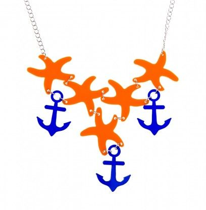 Anchor and sea stars necklace by @KiviMeri. Made in Finland.