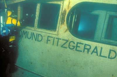 Shipwreck Museum, Lake Superior, MI:  SS Edmund Fitzgerald, November 10, 1975. Sank without a single call for help in 530 feet of water 17 Miles from shore.  So sad. In thousands of shipwrecks, it is second behind Titanic in legend. The mystery as to why it sank..did she founder or strike bottom on the shoels before she sank...no one can agree.  All 29 souls on board perished.