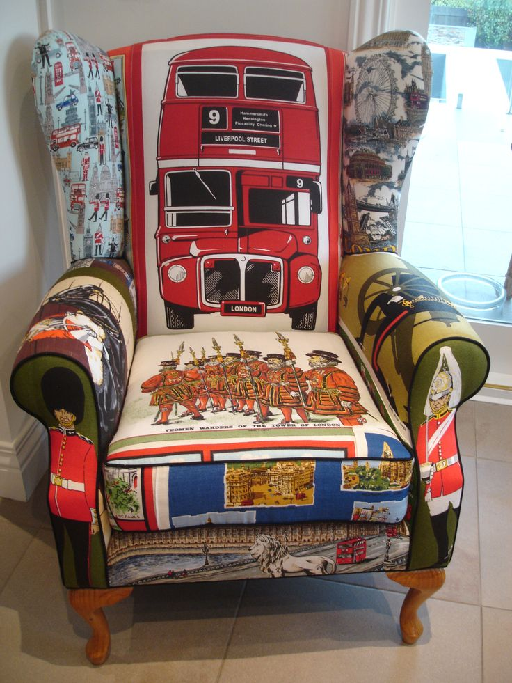Vintage London Tea Towel Chair