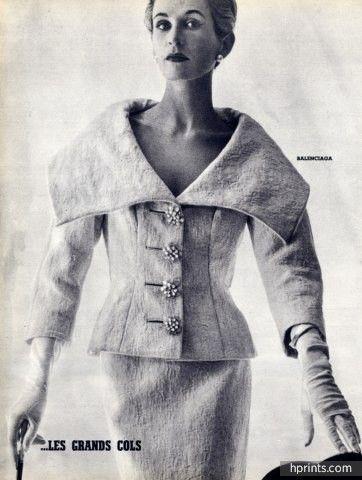 Balenciaga 1954 Summer Fashion Les Grands Cols