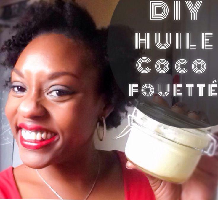 DIY Huile de coco fouettée : HV de coco + HV d'avocat + HV d'olive + huile essentielle d'ylang-ylang