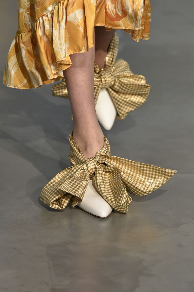 SS18 MOTHER OF PEARL SHOES as seen on the catwalk at London Fashion Week. #motherofpearl #pearlyqueen #shoes #ss18