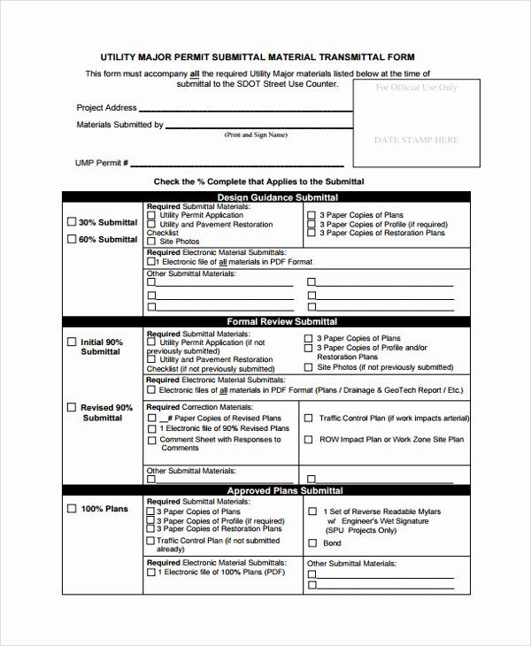 Construction Transmittal Form Template Lovely Construction