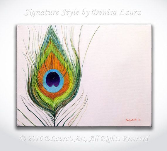 Hey, I found this really awesome Etsy listing at https://www.etsy.com/listing/483202919/original-oil-painting-peacock-feather-on