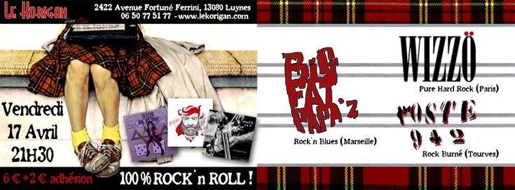 Wizzö, Poste942 et Big Fat Papa'z en concert exceptionnel au Korigan à Aix en Provence !
