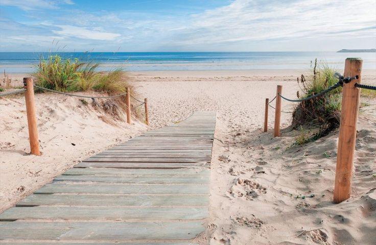 """Fotobehang """"De weg naar het strand"""". 368 cm breed en 254 cm hoog. Prijs 69,95"""