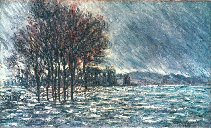 The Flood, 1881. Claude Monet