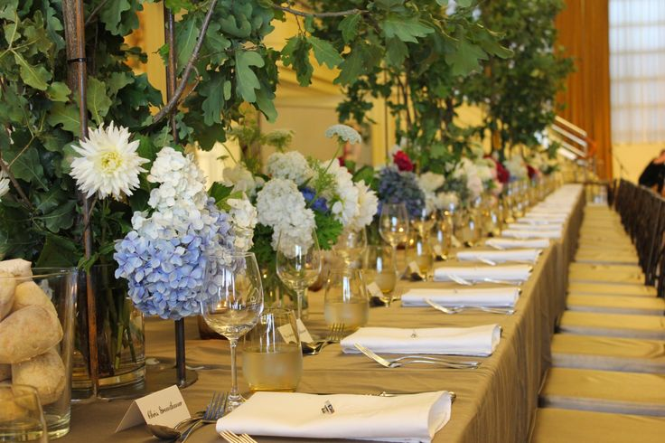 Dining table and floral