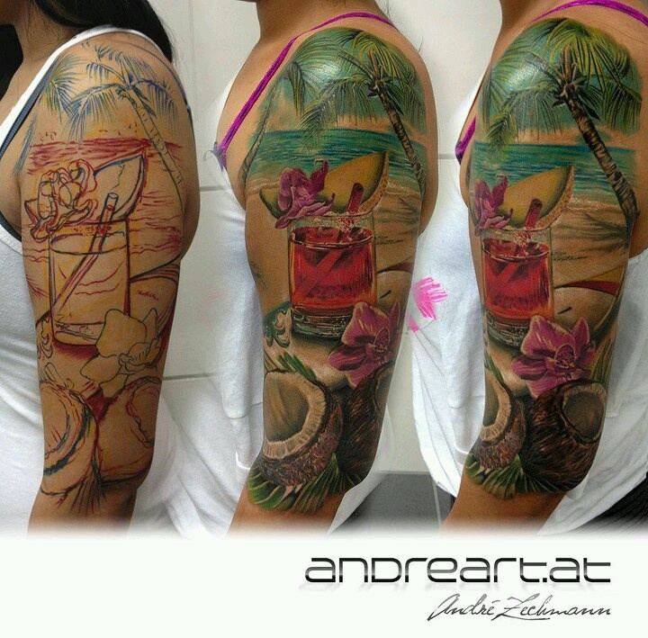Cool Tattoo Backgrounds: I Love The Use Of Foreground And Background On This