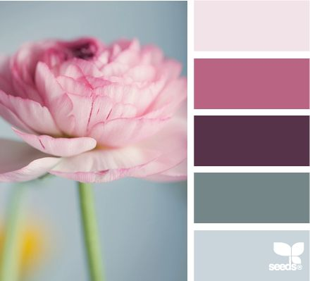 color themesDesign Seeds, Wedding Colors Schemes, Girls Room, Living Room, Colors Palettes, Flora Tone, Painting Colors, Blueish Grey, Colours Palettes