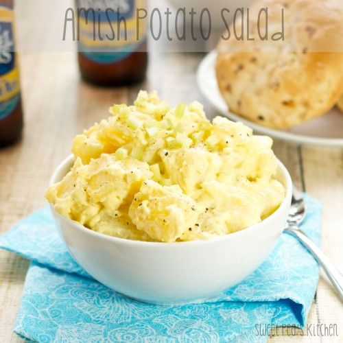 Amish Potato Salad {Sweet Pea's Kitchen}. http://sweetpeaskitchen.com/2014/05/amish-potato-salad/#more-17115