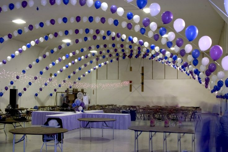 Wedding decorations using balloons using a gym for your for How can prom venues be decorated