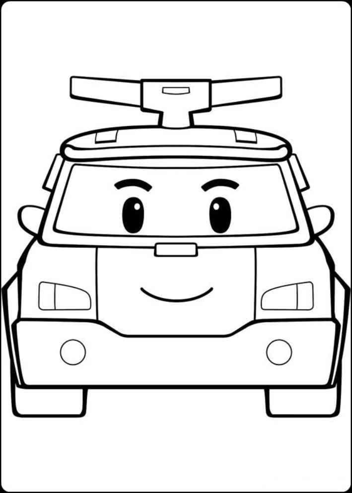 Mewarnai Tayo Little Bus : mewarnai, little, Menggambar, Kecil, Ramah, Mewarnai, Edukasi, Warna,, Kartun,