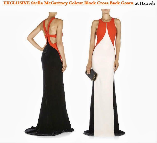 NEW In at Harrods EXCLUSIVE Stella McCartney Colour Block Cross Back Gown Ever the illusionist, Stella McCartney works her magic once again with this colour block gown. Pale pink and cream curved crepe panels contour the body while burgundy... https://www.facebook.com/pages/Fashion-Trends-and-Discounts/137797606390386?ref=hl