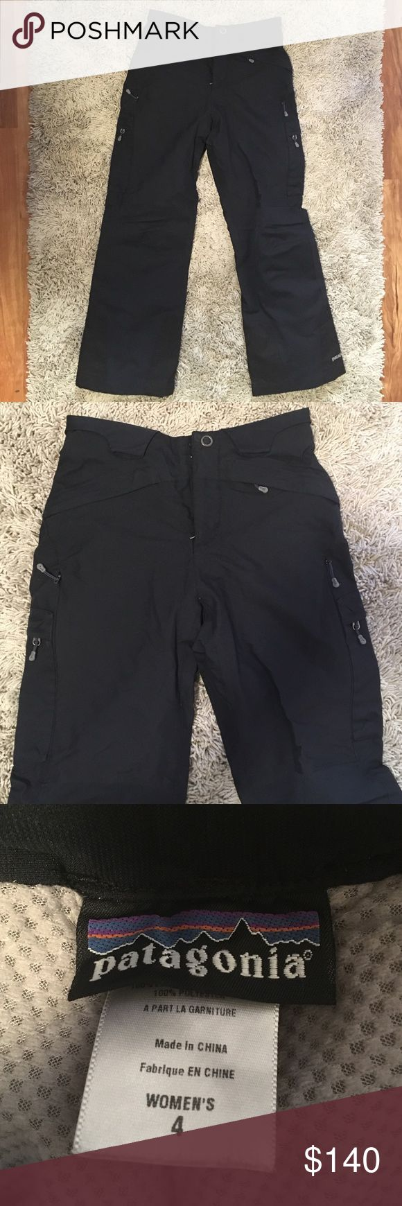 Patagonia ski or snowboard pants. Like new! LIKE NEW! Black Patagonia snow pants, great for snowboarding and skiing. Pockets on both legs, with adjustable ankles. Patagonia Pants Straight Leg