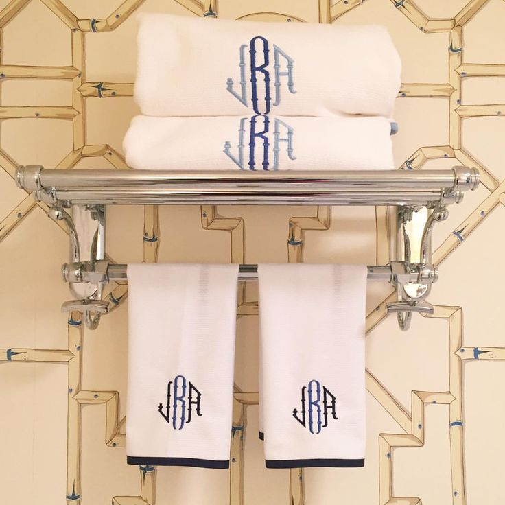 """184 Likes, 6 Comments - The Monogrammed Home (@themonogrammedhome) on Instagram: """"Pique hand towels for the powder room! #themonogrammedhome #monogrammed #handtowels #guesttowels…"""""""