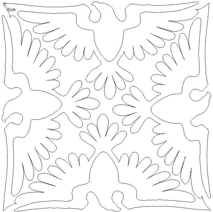 QOV eagles machine quilting idea (first saw on a QOV quilt done by Tia Curtis Quilts)