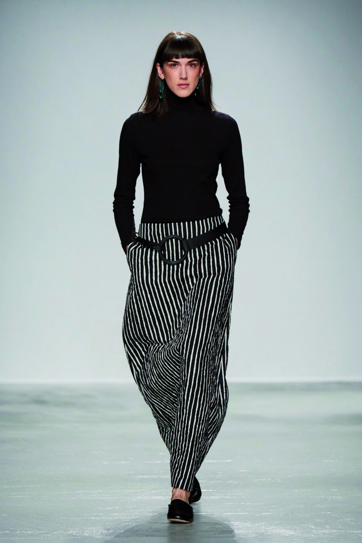 Look from the Marimekko Fall/Winter 2016 presentation at Palais de Tokyo in…