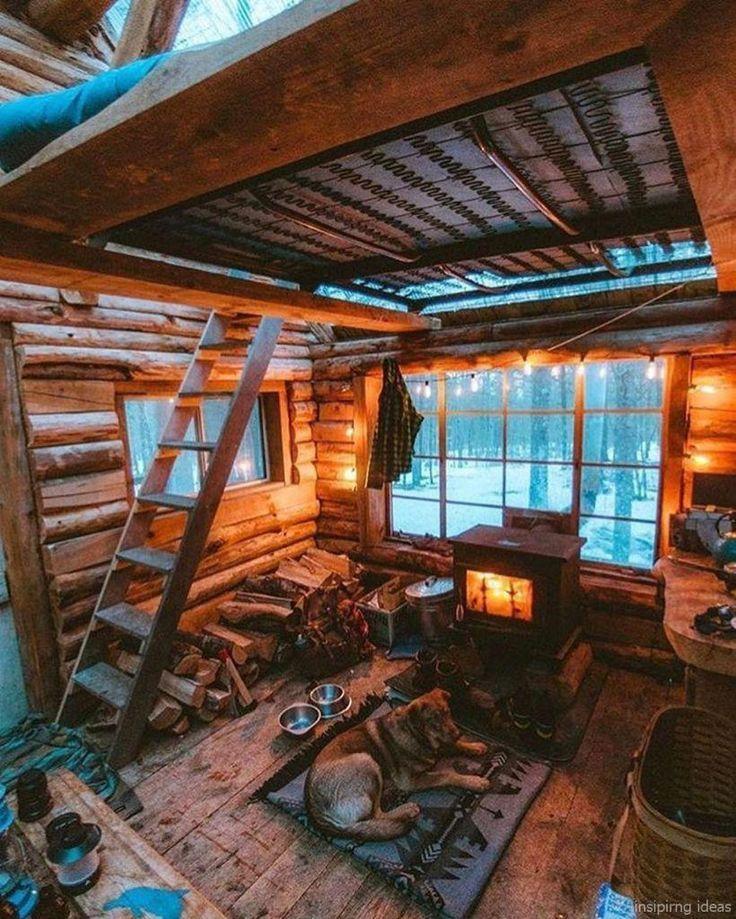 51 rustic log cabin homes design ideas #cabins – #…