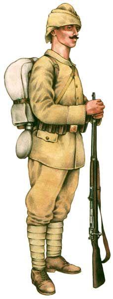 Szeregowy tureckiej piechoty liniowej 1914